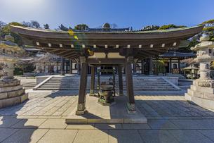 観音造立1300年を迎えた長谷寺の観音堂の写真素材 [FYI04811325]