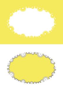 花のシルエットのフレームのイラスト素材 [FYI04811375]