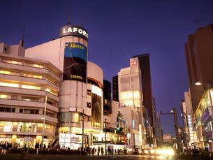 夕暮れの神宮前交差点 東京都の写真素材 [FYI04811705]