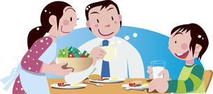 朝食と家族のイラスト素材 [FYI04811931]