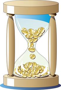ポイントが貯まる砂時計のイラスト素材 [FYI04811947]