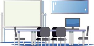 会議室とホワイトボードのイラスト素材 [FYI04811994]