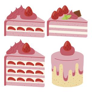 かわいいケーキのイラストセット1のイラスト素材 [FYI04812040]