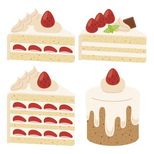 かわいいケーキのイラストセット4のイラスト素材 [FYI04812043]