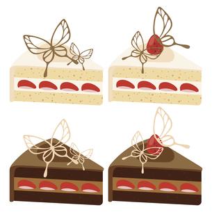 かわいいデコレーションケーキのイラストセット1のイラスト素材 [FYI04812044]
