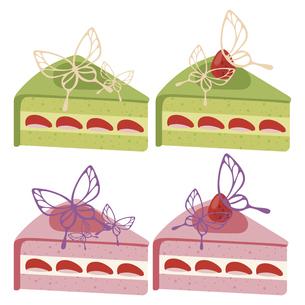 かわいいデコレーションケーキのイラストセット2のイラスト素材 [FYI04812045]
