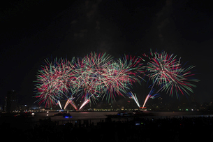 港の花火大会の写真素材 [FYI04812287]