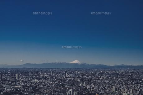 豊島区から望む都心の風景と富士山の写真素材 [FYI04812425]
