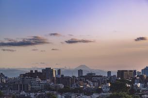 豊島区から望む都心の風景と富士山の写真素材 [FYI04812428]