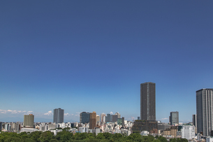 豊島区役所庁舎ビルと池袋の街並みの写真素材 [FYI04812433]