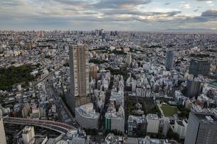 豊島区役所庁舎ビルと新宿方面の都心の風景の写真素材 [FYI04812440]