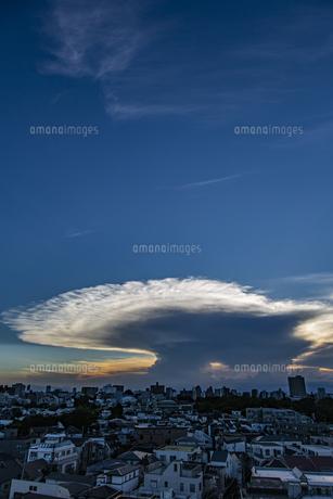 都心の空に広がるかなとこ雲の写真素材 [FYI04812444]