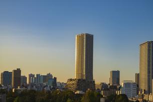 豊島区役所庁舎ビルと池袋の街並みの写真素材 [FYI04812449]