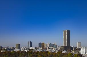 豊島区役所庁舎ビルと池袋の街並みの写真素材 [FYI04812456]
