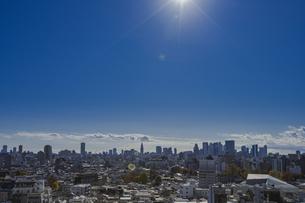 豊島区から望む新宿方面のビル群の写真素材 [FYI04812458]
