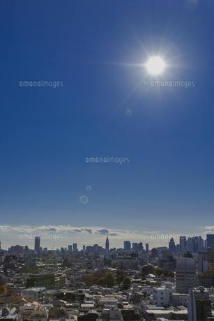 豊島区から望む新宿方面のビル群の写真素材 [FYI04812461]