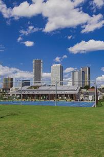豊島区雑司が谷公園と東池袋の高層マンションとビル群の写真素材 [FYI04812474]
