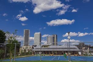 豊島区雑司が谷公園と東池袋の高層マンションとビル群の写真素材 [FYI04812476]