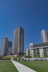 豊島区東池袋のイケ・サンパークと高層マンションとビル群の写真素材 [FYI04812482]