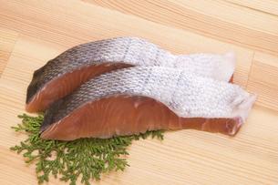 白鮭切り身の写真素材 [FYI04812686]