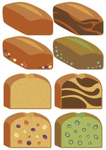 かわいいパウンドケーキのイラストセットのイラスト素材 [FYI04812723]