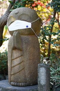 長谷寺の和み地蔵の写真素材 [FYI04813664]