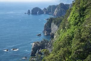 三陸海岸 北山崎風景の写真素材 [FYI04813874]