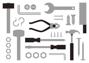 大工道具や工具のイラスト素材 [FYI04814867]