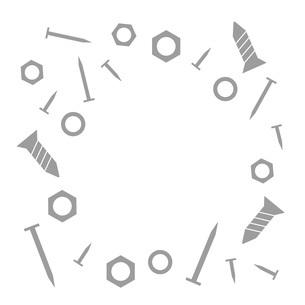 クギやネジのフレームのイラスト素材 [FYI04814869]