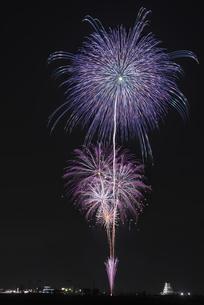 花火 常総の夜空へ未来を咲かそうの写真素材 [FYI04814898]