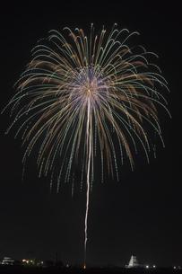 花火 常総の夜空へ未来を咲かそうの写真素材 [FYI04814904]