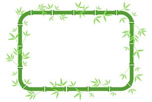 緑色の竹の装飾枠のイラスト素材 [FYI04815350]