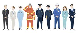 公務員として活躍する人々のイラスト素材 [FYI04815636]