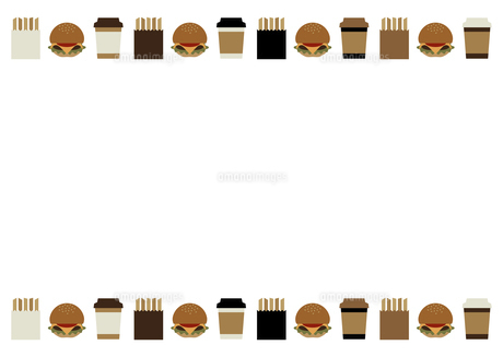 ハンバーガーセットのフレームのイラスト素材 [FYI04815642]