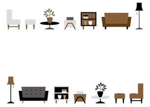 インテリア家具のフレームのイラスト素材 [FYI04815643]