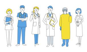 医療従事者として活躍する人々のイラスト素材 [FYI04815945]