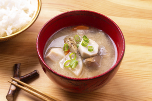 根菜の味噌汁の写真素材 [FYI04816106]