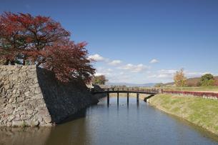 松代城の堀と石垣の写真素材 [FYI04816685]