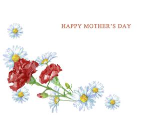 母の日カード 水彩のお花のブーケのイラスト素材 [FYI04816701]