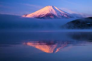 山中湖からの逆さ富士の写真素材 [FYI04816832]