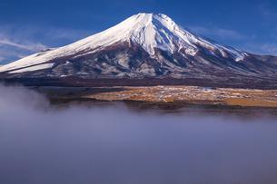 冠雪の富士山の写真素材 [FYI04816833]