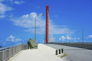 沖縄 海中道路 平安座海中大橋(へんざかいちゅうおおはし)の写真素材 [FYI04816896]