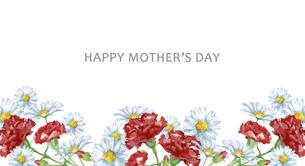 母の日カード 水彩のお花のフレームのイラスト素材 [FYI04817258]