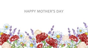 母の日カード 水彩のお花のフレームのイラスト素材 [FYI04817260]