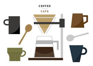 コーヒーカップとコーヒードリッパーのイラスト素材 [FYI04817383]