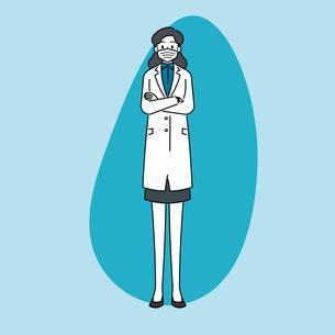 マスクをしている、若い女性の医師のイラスト素材 [FYI04817782]
