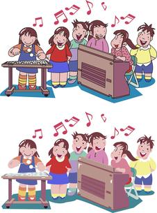 音楽教室の子供達のイラスト素材 [FYI04818238]