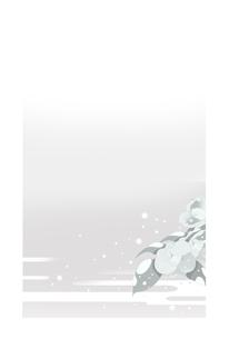 喪中葉書,寒椿のイラスト素材 [FYI04818285]