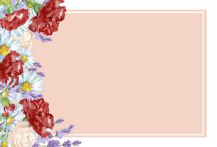カーネーションの花束のフレームのイラスト素材 [FYI04818334]