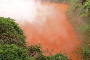 別府地獄めぐり 血の池地獄の写真素材 [FYI04818591]